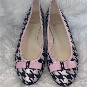 NWT Christian Dior houndstooth flats size 37.5